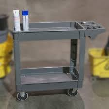 Sterilite 2 Shelf Utility Cabinet by Plastic Utility Carts Garage Storage The Home Depot