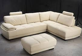 Beige Sectional Living Room Ideas by Furniture Delightful Beige Leather Sectional Sofa And Ottoman