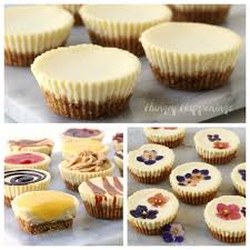 Each Little Cheesecake Topped Graham Cracker Crust Is Baked In A Muffin Cup And Can Be Served Plain Or