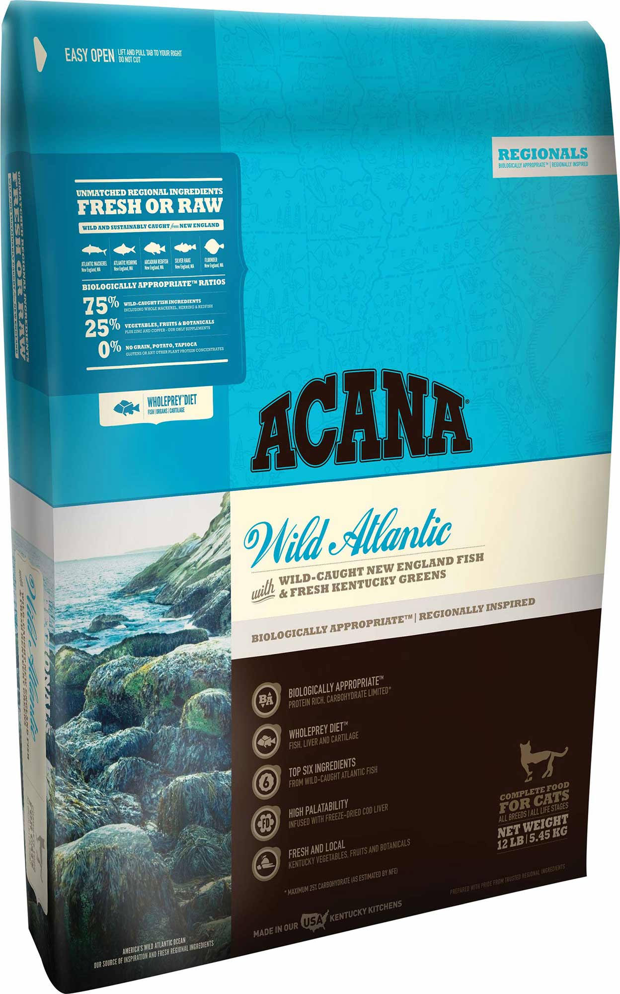 Acana Wild Atlantic Dry Cat Food - 12 oz bag