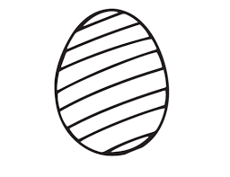 Blank Easter Egg Coloring Page