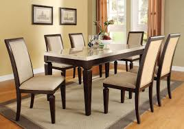 100 6 Chairs For Dining Room 7 Pcs Agatha White Marble Top Table Set Table