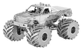 100 Monster Truck Pictures Metal Earth 3D Model Kit Innovatoys Metal Earth