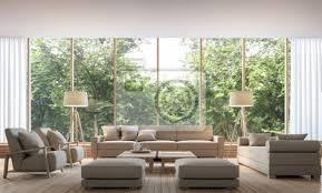 fototapete modernes wohnzimmer mit naturansicht 3d rendering bild es gibt