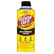 Tile Adhesive Remover Paste by Goof Off 16 Oz Professional Strength Remover Fg654 The Home Depot