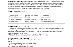 resume for a nanny images gallery nanny resume sles