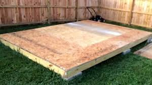 shed floor part 4 youtube