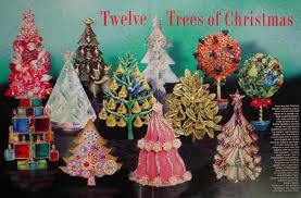 A Stunning Collection Of 12 Christmas Tree Pins Ranging From An All Metal Collage With