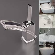 glas wasserfall badarmatur bad wasserhahn küche