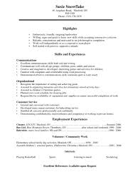 High School Student Resume Examples For Highschool Students On Customer Service Perfect Template