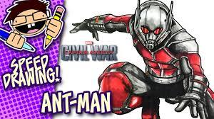 Speed Drawing ANT MAN CAPTAIN AMERICA CIVIL WAR