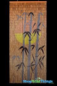 Natural Bamboo Beaded Door Curtain by Bamboo Painted Curtain Orange Sun Silhouette Door Beads Door
