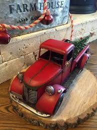 Primitive Easter Tree Decorations by Red Truck Christmas Old Timey Christmas Truck Christmas Tree