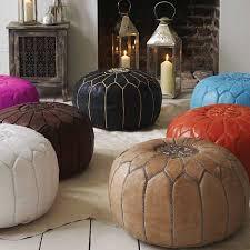 pouf marocain en cuir vente en ligne de pouf deco maroc poufs