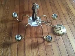 lights vintage brass underwriters laboratory chandelier ceiling