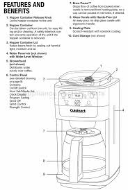 Cuisinart Coffee Maker Parts Pot Rh Restaurantbrooks Com Bunn Diagram Bxb For Stainless