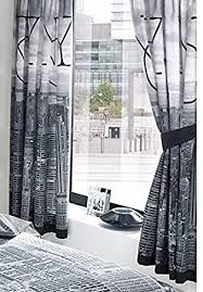 LUXURY PRINTED BEDROOM POLYCOTTON CURTAINS SET 66