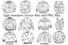 Ugly Sweater ClipArt and Vector Illustrations