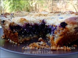 gâteau crousti moelleux aux myrtilles waiting for the sun