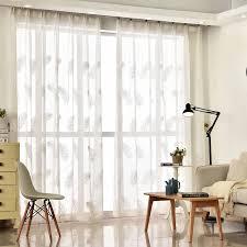 fertigen feder bestickt gardinen weiß günstige vorhänge für wohnzimmer schlafzimmer fenster tüll vorhang für küchentür