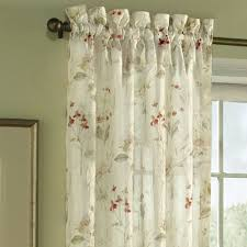 Crushed Voile Curtains Christmas Tree Shop by Chantelle Crinkle Sheer Voile Floral Window Treatment