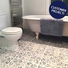tiles retro bathroom floor tile vintage blue ceramic bathroom