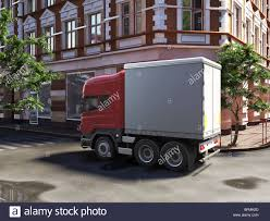 Funny Concept Lorry At The Street Stock Photo: 26882645 - Alamy