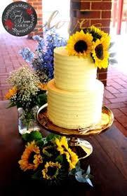 Rippled Buttercream And Sunflower Wedding Cake By My Sweet Dream Cakes Perth Rusticwedding Perthweddings
