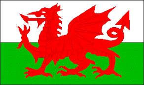 The Welsh Flag Is A Green And White Bicolor Stripe On Top Picturing Large Red Dragon Symbol Of Wales