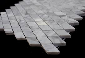 Carrara Marble Tile 12x12 by 12x12 Italian White Carrara Marble Polished Rhomboid Mosaic Tile