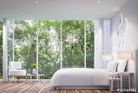 white schlafzimmer modernen minimalistischen stil weißes bett bilder myloview