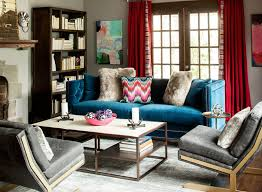canapé déco 12 superbes idées déco avec un canapé bleu dans le salon bricobistro