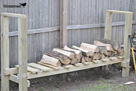 Outdoor Fireplace Rack Diy Firewood Box Storage Solutions Cheap