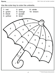 Coloring Worksheets For Nursery Color By Number Kindergarten Free Easy Kids Pages Rhymes