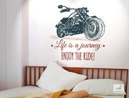 usa wandtattoo fahrzeug mit motorrad und schriftzü