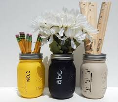 Mason Jars Rustic Back To School Pencil Chalk