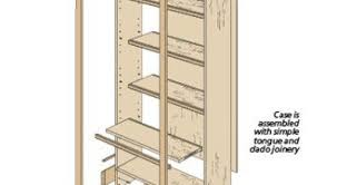 33 wood bookcase building plans this bookshelf plan includes