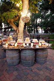 Country Wedding Dessert Table Ideas