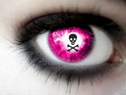 Halloween Contacts No Prescription by Kick Pink Contact Lens With Skull In Itff Misc Pinterest