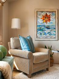 Photos Hgtv Coastal Bedroom Sitting Area With Oversized Tan Armchair ...