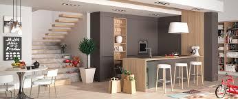 photos cuisine cuisine contemporaine décor bois zenit sur mesure haut de gamme