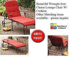 Amazon Patio Lounge Cushions by Amazon Com Outdoor Wrought Iron Chaise Lounge Chair W Free