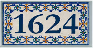 top tile house numbers with mexican talavera tile house numbers