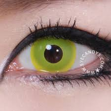 Prescription Contact Lenses Halloween Australia by Buy Geo Animation Neon Yellow Halloween Contact Lenses Eyecandys