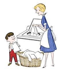 Kids Washing Clothes Clipart 1