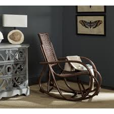 Safavieh Bali Brown Rocking Chair Spark Fniture Kloris Tobacco Rocking Chair Cambridge Casual Alston Porch Cathleen Outdoor Luca Linen Me And My Trend Knoll Intertional Barcelona Relax Antique White Painted Wooden Rocking Chair In Corner Of Corda Patio Chairs Vola Glider Fjord Rar Eames Design Brown