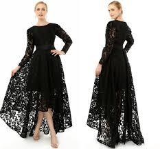 2015 elegant black long sleeve plus size special occasion dresses