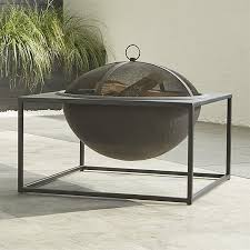 carswell large fire pit crate and barrel