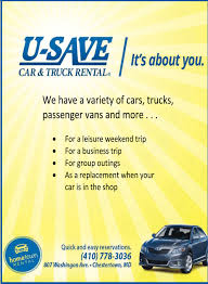 It's About You, U-Save Car & Truck Rental, Chestertown, MD U Save Car Truck Rental Columbia Youtube 2015 Travel Guide To Florida By Markintoshdesign Issuu Usave Home Facebook Capps And Van Auto 400 E Broadway Gallatin Tn 37066 Ypcom Motor City Buick Gmc Is A Bakersfield Dealer New 10 Imperial Valley Calexico 1800 Cartitle Collision Mechanical Service In Norwalk Bellevue Willard Franchise Application Insurance Usave Car Truck Rental Frederick 4k Uhd Nissan Evalia Nv200 Diesel 9500 Eur Cargr