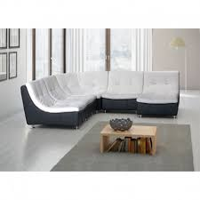 canape scoop canapé d angle scoop en pu coloris noir et blanc atout mobilier